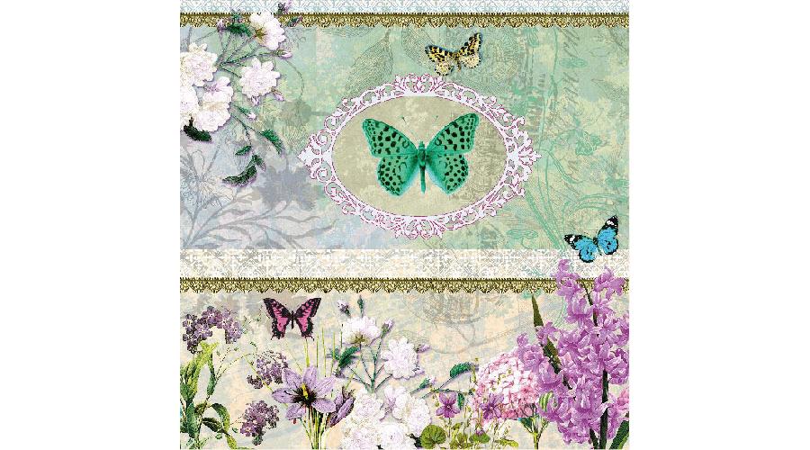9221ff2ae4 Ambiente Butterfly Medallion szalvéta